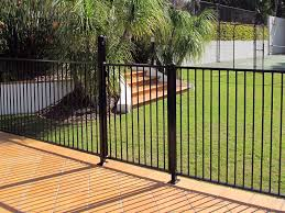 fence design dark aluminum fence gates guardian pool fresno