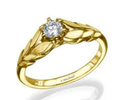 engagement ring gold engagement diamond leaf ring 14k yellow gold leaf ring leaf