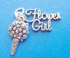 flower girl charms jewelry by rhonda sterling silver wedding charms charms