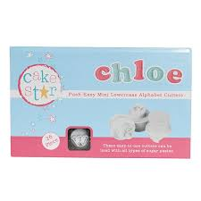 cake push easy cutters mini lower alphabet set 26
