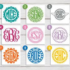 monogram stickers best circle monogram sticker products on wanelo