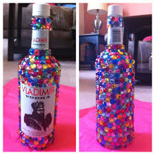 bedazzled alcohol bottle for a 21st birthday easy to make 1 buy