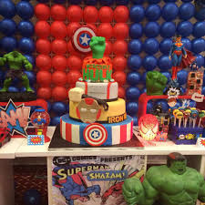 super hero squad marvel characters birthday party ideas photo 2