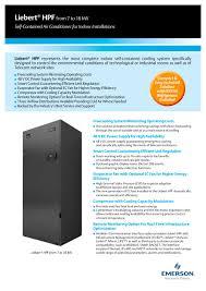 liebert hpf brochure vertiv pdf catalogue technical