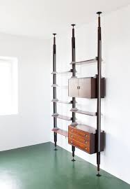 Rosewood Floor Ceiling Wall Unit From Stildomus 1960s