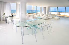 Oval Glass Dining Table In Dining Room Contemporary With Coastal - Contemporary glass dining room tables