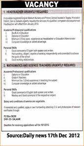 Monster Sample Resume by Application Letter Post English Teacher