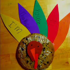 thanksgiving craft from the turkey cookie the cutest gift