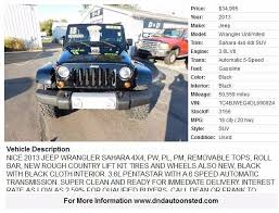2013 jeep wrangler mileage 2013 jeep wrangler unlimited 4x4 4dr suv in onsted mi d
