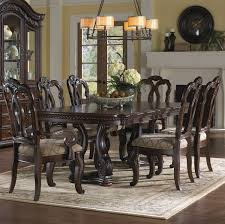 Aico Furniture Dining Room Sets San Marino Rectangular Double Pedestal Table Dining Room Set By