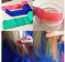 hair color put your picture color your hair with streamers 1 get a color of streamer you