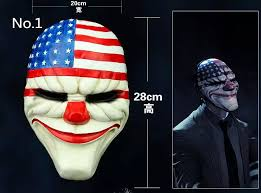 Payday Halloween Costume 1pc Lot Wholesale Pvc Scary Clown Mask Payday 2 Halloween Mask