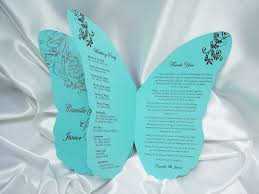 wedding programs sle butterfly wedding programs 2015 wedding ideas