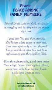 prayer for peace in the family