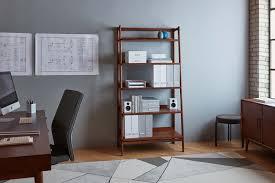 west elm workspace mid century bookcase