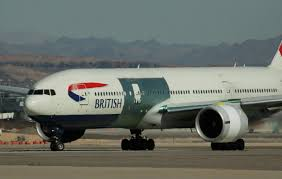 picture fire damaged ba 777 leaves las vegas for further repairs
