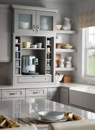 Shenandoah Kitchen Cabinets Reviews Shenandoah Cabinetry Coffee Bar Painted Stone Mission Door