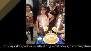 birthday cake sparklers birthday cake sparklers silly string birthday girl