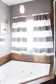 Diy Bathroom Curtains How To Paint Curtains With Stripes