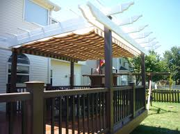 exterior design and decks exterior wonderful deck decoration using with white wood pergola