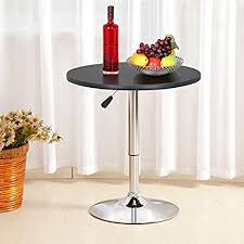 Outdoor Furniture Trade Shows by Amazon Com Topeakmart Pub Table Adjustable 360 Swivel Round Bar