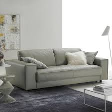 Modern Italian Leather Sofa Modern Grey Leather Italian Sofa With Decor 13