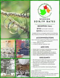 thanksgiving 2019 wedding rates the canadian ecology centre