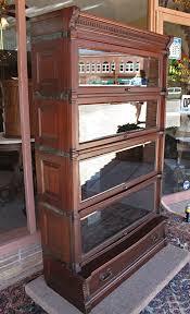 ideal globe wernicke ribbon stripe mahogany stacking bookcase