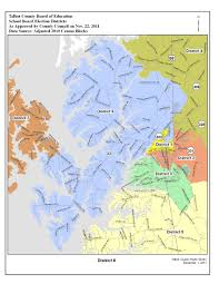 Easton Town Center Map Election Districts Map Talbot County Md
