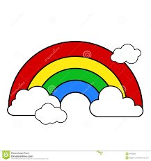 clouds and rainbow clipart clipartxtras