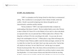 theme essay for 1984 1984 key incident essay gcse english marked by teachers com
