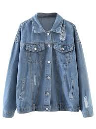 light distressed denim jacket graphic distressed denim jacket light blue jackets coats one size