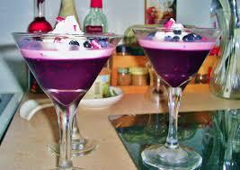 martini blueberry wild blueberry gelée rose petal panna cotta flavour pig