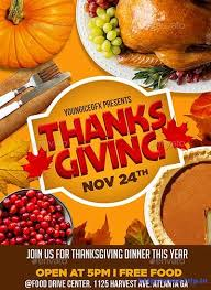 65 best thanksgiving flyers print templates 2017 frip in