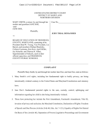Lawsuit Fcps Transgender Lawsuit Fredericknewspost Com