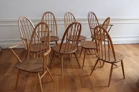 Ercol Dining Chair Set Of 8 Ercol Dining Chairs Vintage Nicechairs