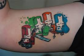 castle crashers the 25 most cringe worthy video game tattoos