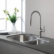 Brushed Nickel Kitchen Faucet Kohleraucets Kitchen Lowes Costco Contemporary At Home Depotaucet