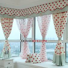 Pattern Window Curtains Poly Cotton Blend Fruit Pattern Of Bay Window Curtain Without