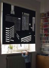 black out roller blinds with lasercut perforation materials