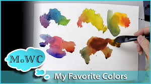 my favorite 8 colors for watercolor youtube