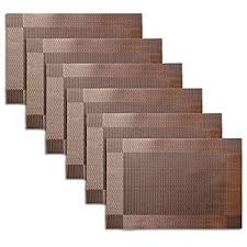 large plastic table mats place mats dining table placemats sets of 6 heat resistant washable