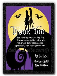 nightmare before wedding thank you cards di 5051ty