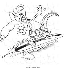 best 15 vector of cartoon surfer rat coloring page outline by ron