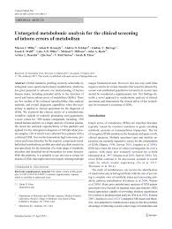 untargeted metabolomic analysis for the clinical screening of