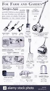 advertisement for gardening tools and equipment in a 1936 diary