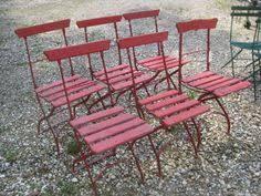 Garden Treasures Bistro Chair Vintage French Bistro Chair Cafe Chair Garden Chair C 1930s