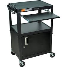 Portable Computer Desk Desk Desks Portable Computer Desk On Wheels Mobile Cart Regarding