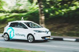 nissan leaf s g nutonomy introduces self driving car service in singapore