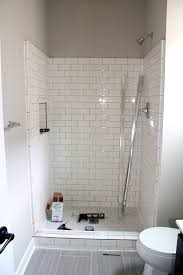 bathroom delightful neo angle shower white subway tiles and